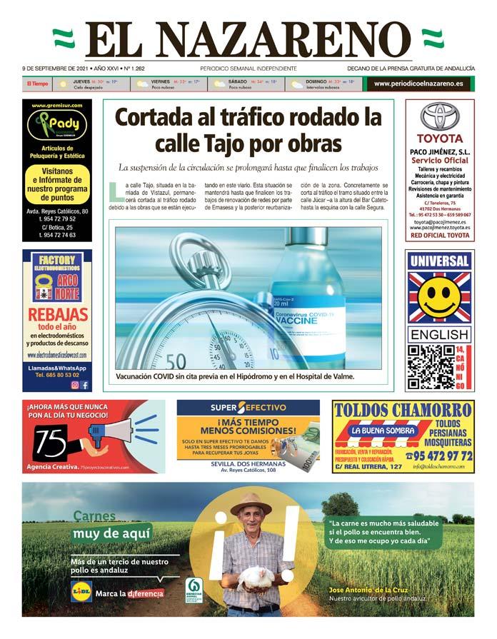 Periódico El Nazareno nº 1.262 de 9 de septiembre de 2021