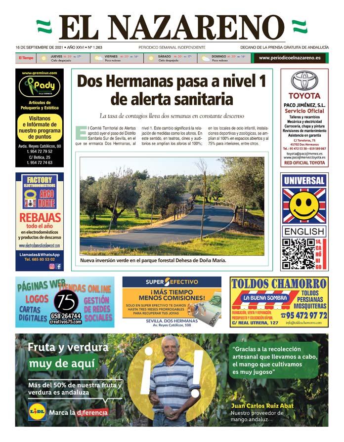 Periódico El Nazareno nº 1.263 de 16 de septiembre de 2021