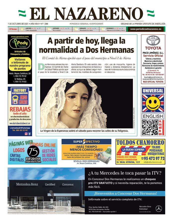 Periódico El Nazareno nº 1.266 de 7 de octubre de 2021